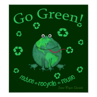 Earth Day Environmental Frog Poster