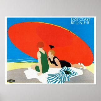 East Coast by LNER ~ Beach Umbrella Poster