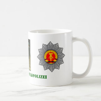 East German Barrack Police Basic White Mug