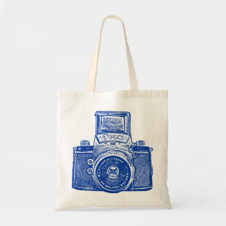East German Camera - Dark Blue Budget Tote Bag