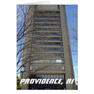East Side, Providence, RI - Brutalist Architecture Greeting Card