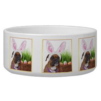 Easter boxer dog pet water bowl