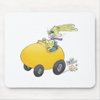 Easter bunny driving an Easter egg!.jpg Mouse Pad