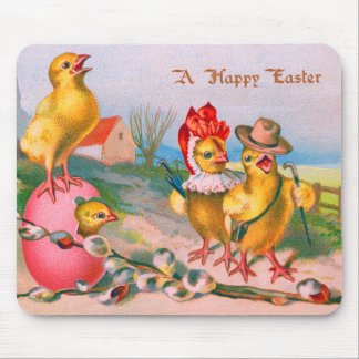 Easter Chick Colored Egg Cotton Mouse Pad