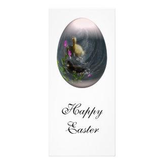 easter egg with ducklings custom rack card