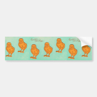 Easter Greetings Chicks Green Bumper Sticker