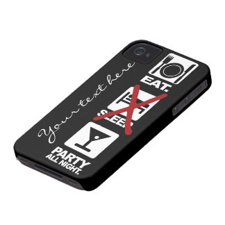 Eat - No Sleep - Party custom iPhone 4 case-mate iPhone 4 Case-Mate Cases