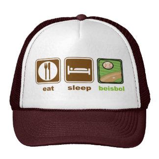 eat sleep beisbol cap