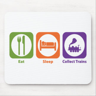Eat Sleep Collect Trains Mouse Pad