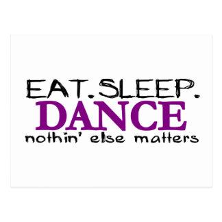 Eat Sleep Dance Postcard