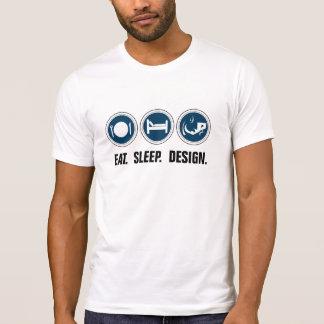 Eat Sleep Design (blue) Shirt
