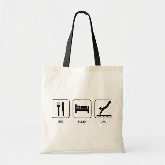 Eat Sleep Dive Budget Tote Bag