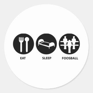 Eat Sleep Foosball Round Sticker