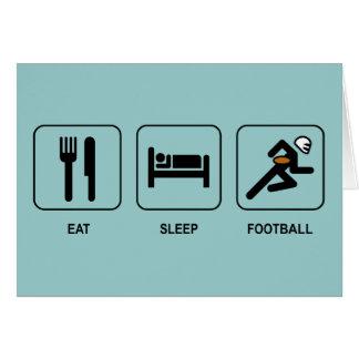 Eat Sleep Football Card