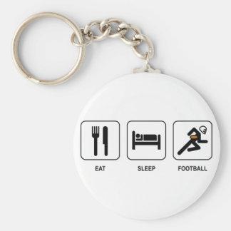 Eat Sleep Football Keychain