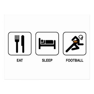 Eat Sleep Football Postcard