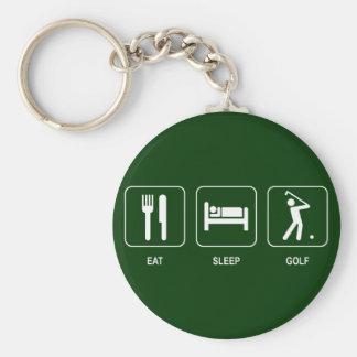 Eat Sleep Golf Keychain