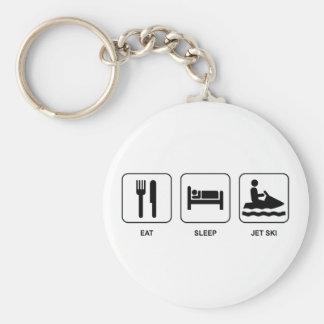 Eat Sleep Jet Ski Basic Round Button Key Ring