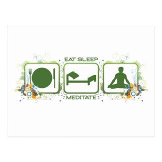 Eat Sleep Meditate Postcard