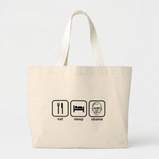 Eat Sleep Obama Jumbo Tote Bag