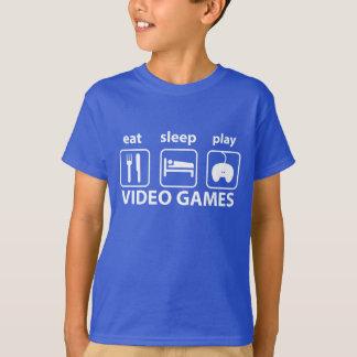 EAT SLEEP PLAY VIDEO GAMES TEE