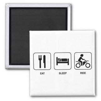 Eat Sleep Ride Square Magnet