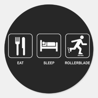 Eat Sleep Rollerblade Sticker