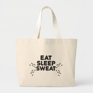 eat sleep sweat - funny sports jumbo tote bag