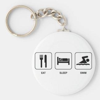 Eat Sleep Swim Keychain