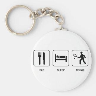 Eat Sleep Tennis Keychain
