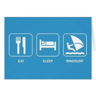 Eat Sleep Windsurf Card