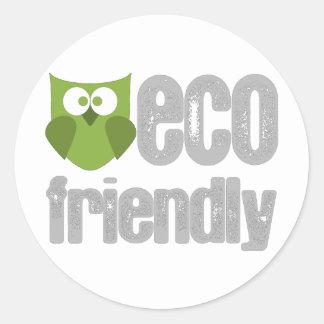 Eco Friendly design! Round Sticker