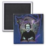 Edgar Allan Poe Gothic Square Magnet