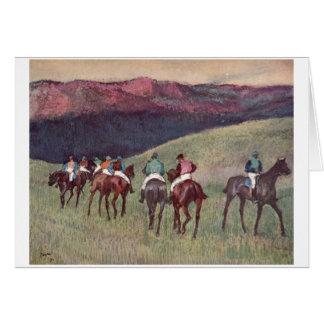 Edgar Degas - Race Horses Training 1894 racehorses Greeting Card