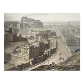 Edinburgh, from Calton Hill, from 'A Voyage Around Postcard