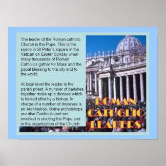 Education, Relgion, Roman Catholic leaders Poster