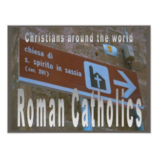 Education, Relgion,Worldwide Roman Catholic church Poster