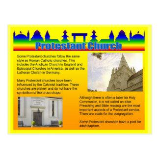 Education, Religion, Protestant Church Postcard