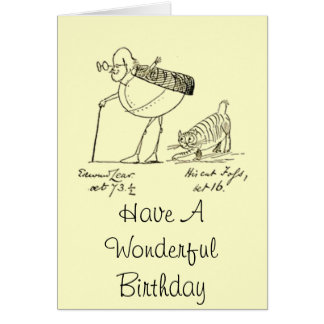 Edward Lear and Foss Greeting Card