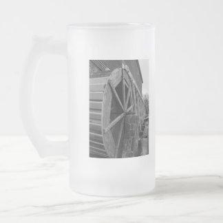 Edwards Water Wheel Frosted Glass Mug