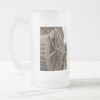 Edwards Water Wheel Sepia Frosted Glass Mug