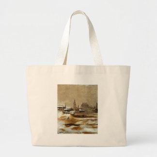 Effect of Snow at Petit-Montrouge by Edouard Manet Jumbo Tote Bag