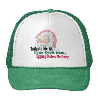 eggnog makes me gassy funny hat christmas design