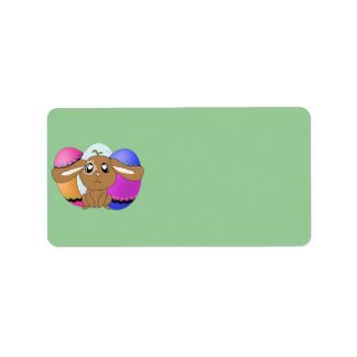 Eggs and Bunny Address Label