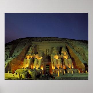 Egypt, Abu Simbel, Colossal figures of Ramesses Poster