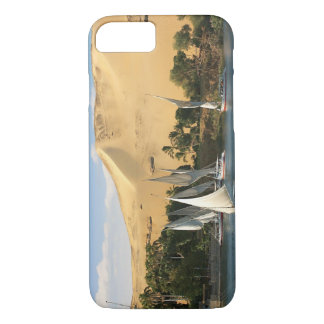Egypt, Aswan, Nile River, Felucca sailboats, 2 iPhone 7 Case