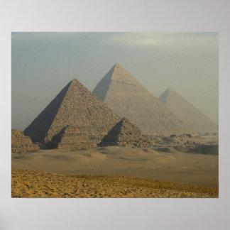 Egypt, Giza, Giza Pyramids Complex, Giza Plateau Poster