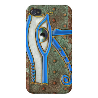 Egyptian Eye of Horus & Metal-look iPhone 4 Case