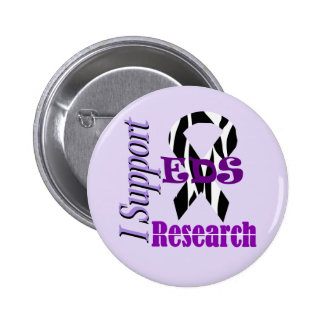 Ehlers Danlos EDS Research Supporter 6 Cm Round Badge