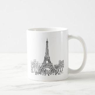 Eifel Tower Paris Basic White Mug